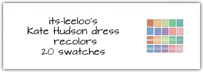 Sims 4 Kate Hudson Dress Recolors at Maimouth Sims4