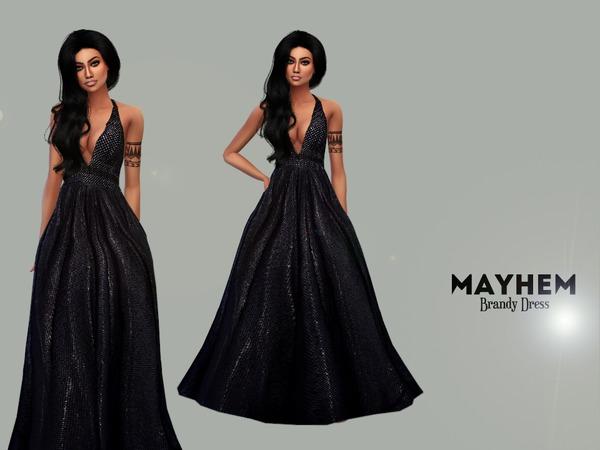 Sims 4 Brandy Dress by NataliMayhem at TSR