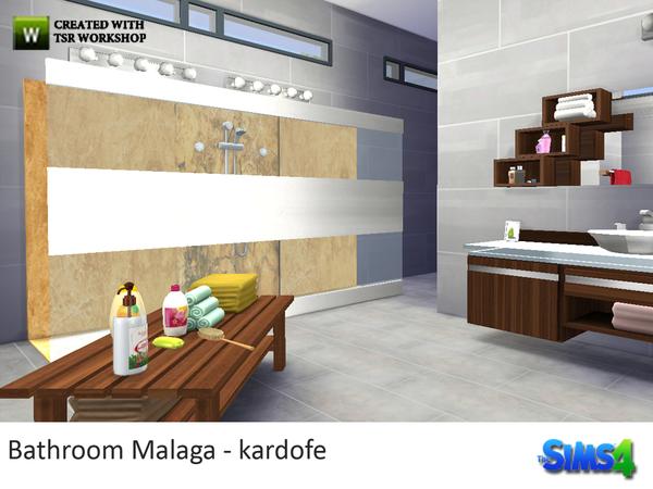 Sims 4 Bathroom Malaga by kardofe at TSR