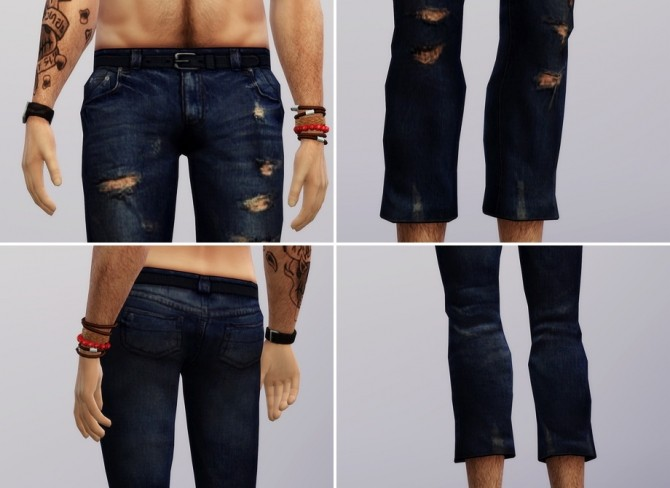 Sims 4 Vintage jeans #1 male at Rusty Nail