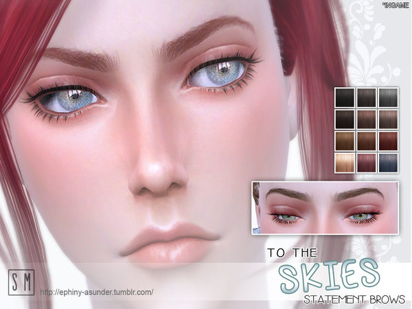 To The Skies Statement Brow by Screaming Mustard at TSR image 2560 Sims 4 Updates
