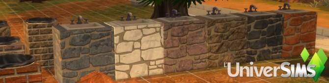 Stone sink by Tigerone35 at L'UniverSims image 257 670x169 Sims 4 Updates