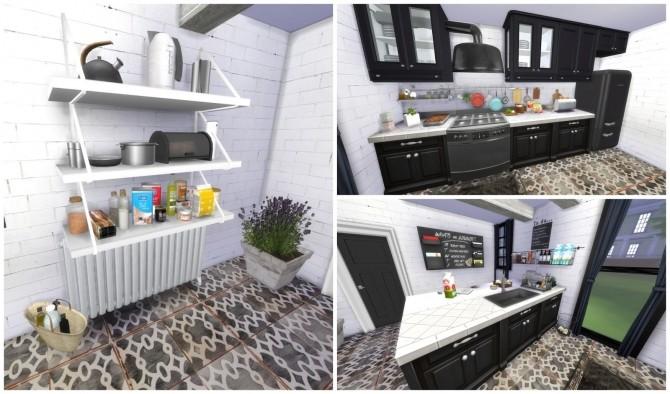 Sims 4 Black Kitchen at Dinha Gamer