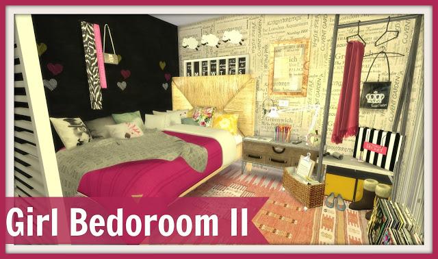 Girl Bedroom Ii At Dinha Gamer 187 Sims 4 Updates
