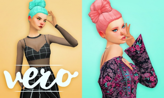 Space Buns For Sims 4 | sims4 marigold buns low hair 아래 번