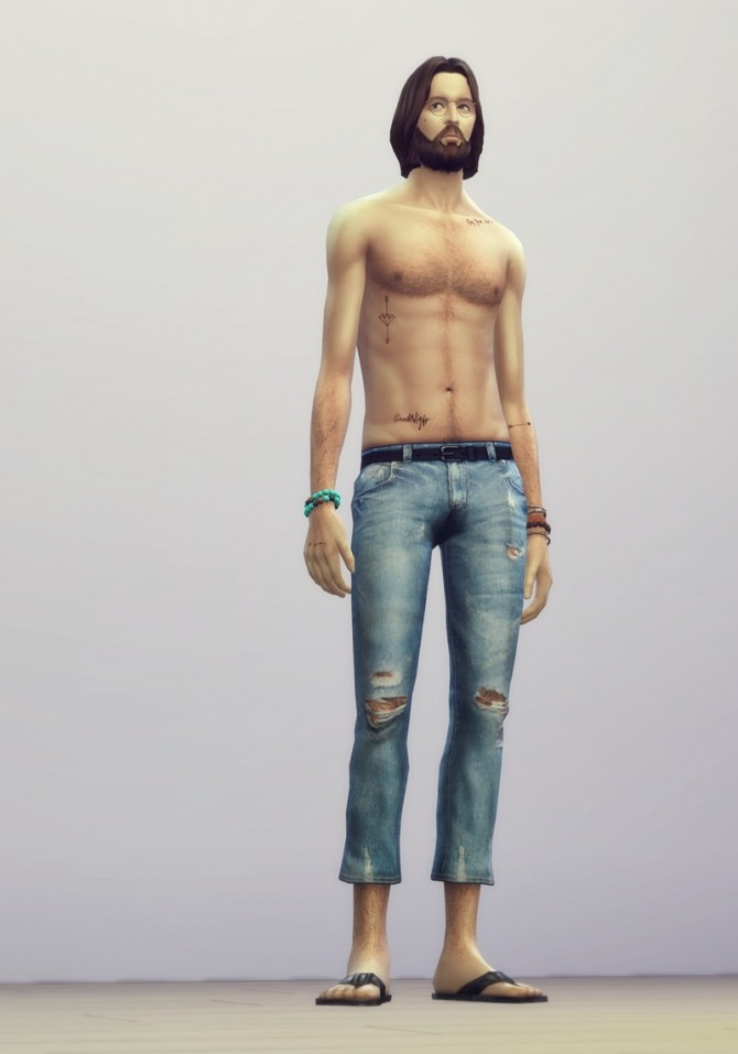 Vintage jeans #2 male at Rusty Nail image 2605 670x957 Sims 4 Updates