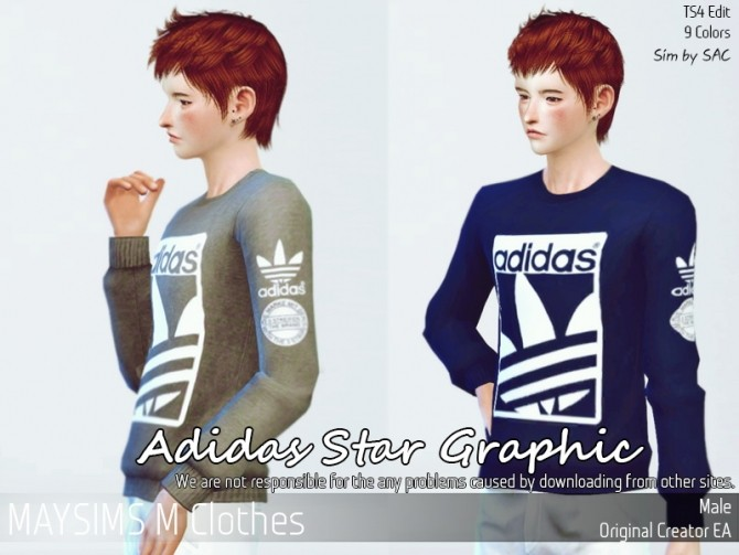 Sims 4 Sport graphic tee for males at May Sims