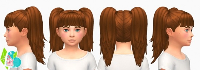 Sporty Twin Tails at SimLaughLove image 2635 670x235 Sims 4 Updates