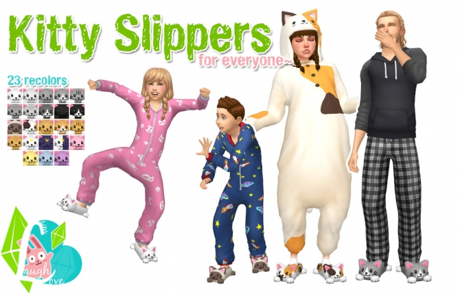 Kitty Slippers at SimLaughLove » Sims 4 Updates