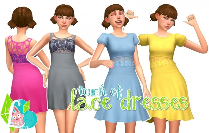 Sims 4 Touch of Lace Dresses at SimLaughLove