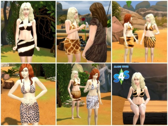 Prehistoric Clothing Set At Meryanes Sims 187 Sims 4 Updates