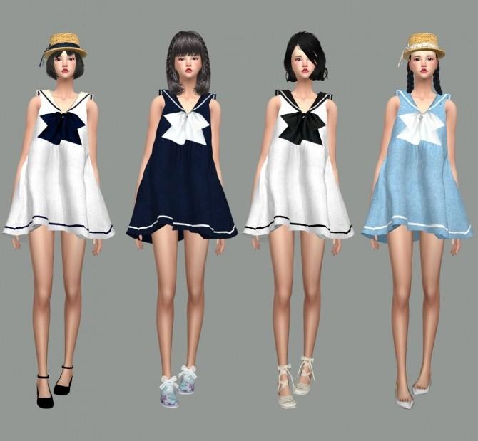 Sailor Dress At Marigold 187 Sims 4 Updates