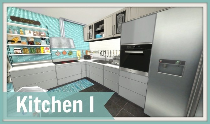 Sims 4 Kitchen 1 at Dinha Gamer