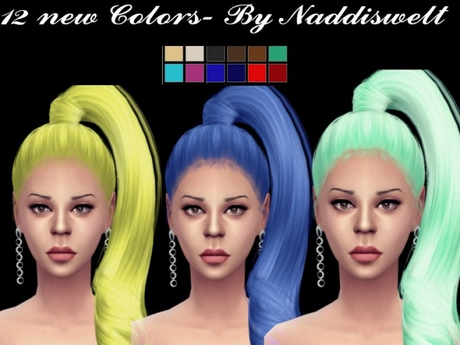 Sims 4 Retexture Hair V10 at Naddi
