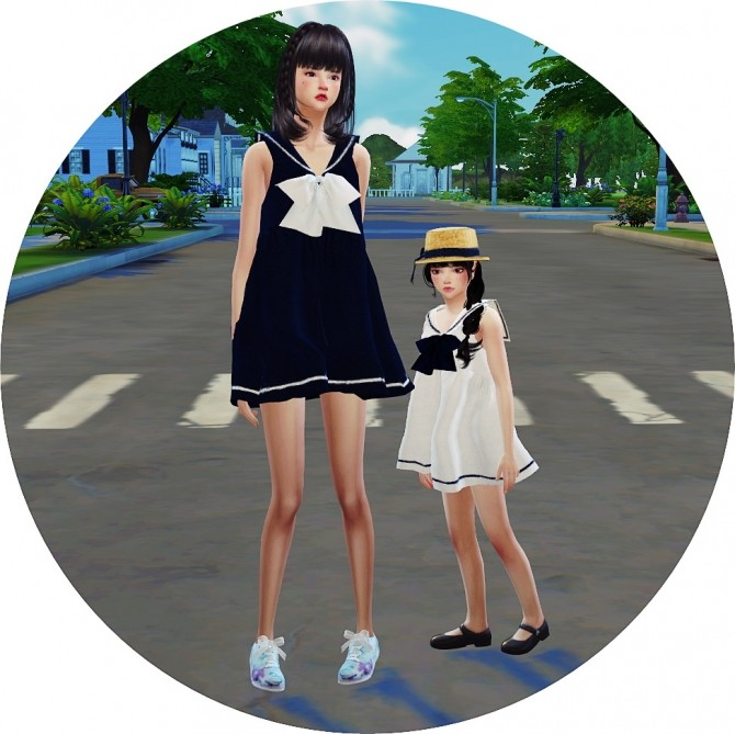 Sailor Dress at Marigold image 2722 670x669 Sims 4 Updates