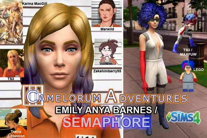 Sims 4 Emily Barnes Semaphore from Camelorum Adventures by BulldozerIvan at Mod The Sims