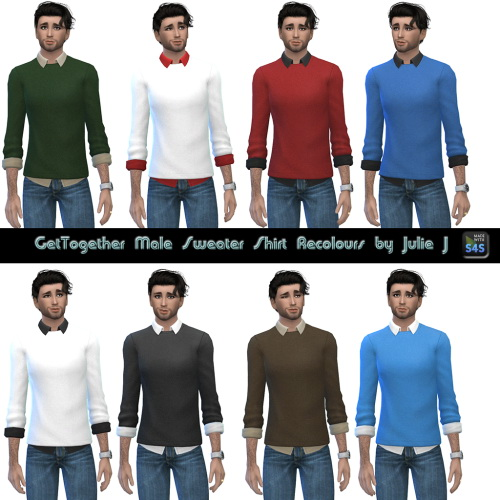 Sims 4 GT Male Sweater Shirt Recolours at Julietoon – Julie J