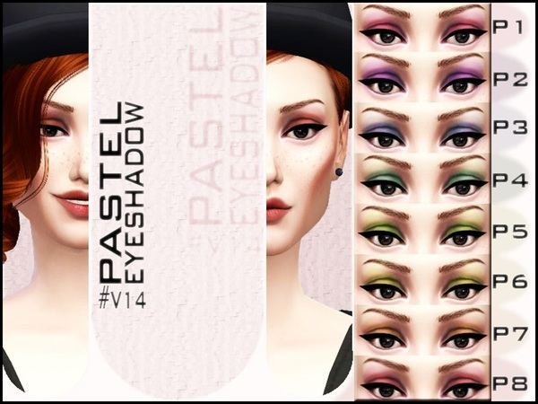 Sims 4 V | 14 Pastel Eyeshadow by Vidia at TSR