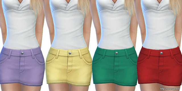 Sims 4 Mini Denim Skirts at Simista