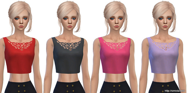 Sims 4 Cropped Tanks at Simista