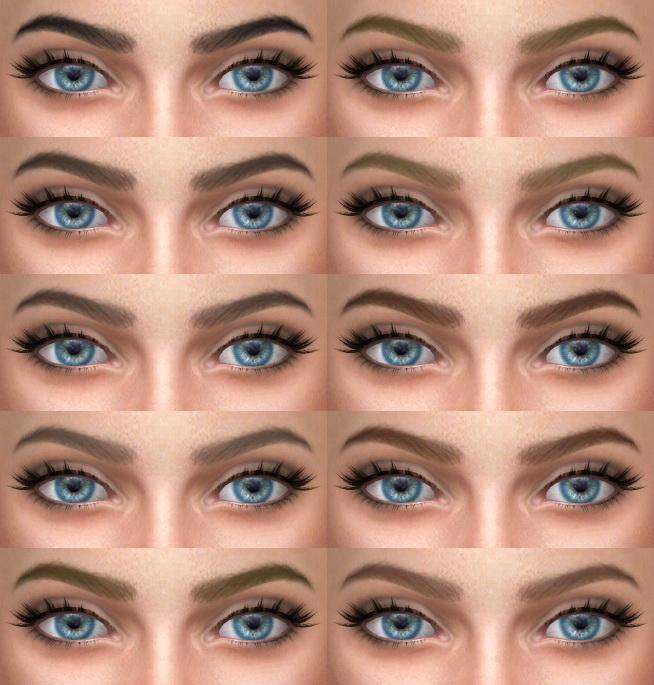 Sims 4 Eyebrows 09 at Alf si