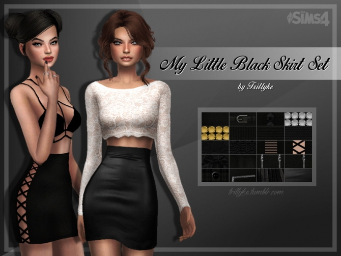 My Little Black Skirt Set At Trillyke 187 Sims 4 Updates