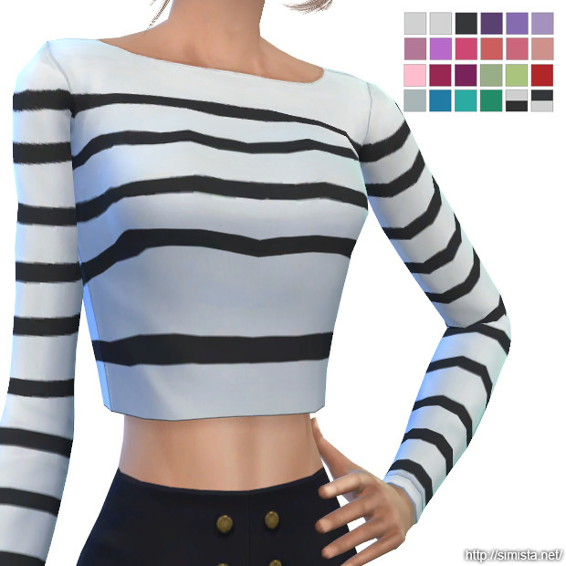 Sims 4 Long Sleeve Crops at Simista