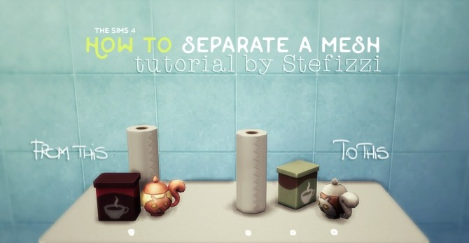 How to separate a mesh tutorial at Stefizzi image 29112 670x347 Sims 4 Updates