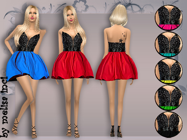 Sims 4 Rich Lace Cocktail Dress by melisa inci at TSR