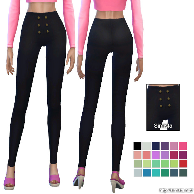 Sims 4 High Waisted Pants at Simista