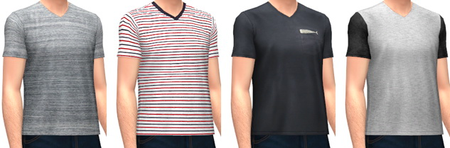 Sims 4 Relaxed Fit T Shirts at Marvin Sims
