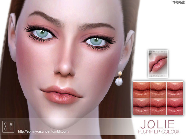 Sims 4 Jolie Plump Lip Colour by Screaming Mustard at TSR