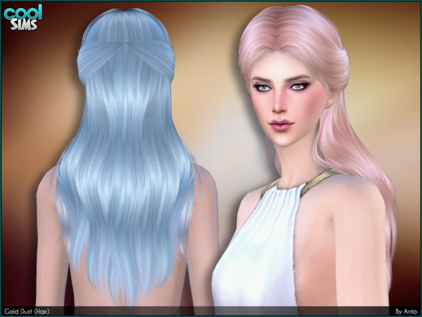 Gold Dust hair by Anto at TSR image 3 Sims 4 Updates