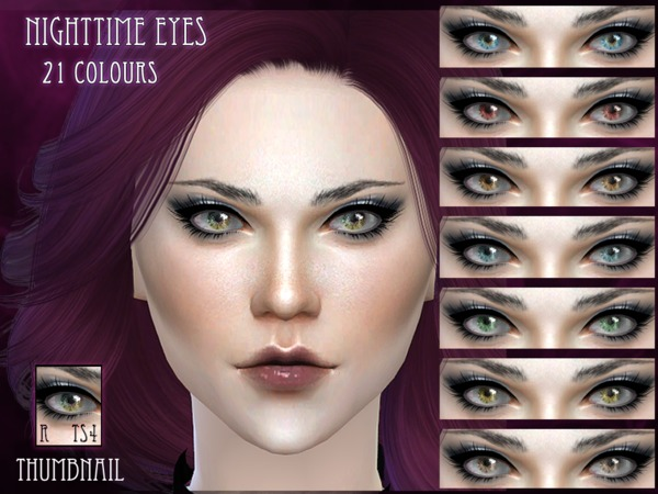 Sims 4 Nighttime Eyes by RemusSirion at TSR