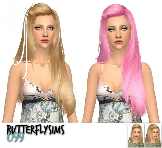 Sims 4 Butterflysims 099 ,120 and 135 hair recolors at Nessa Sims
