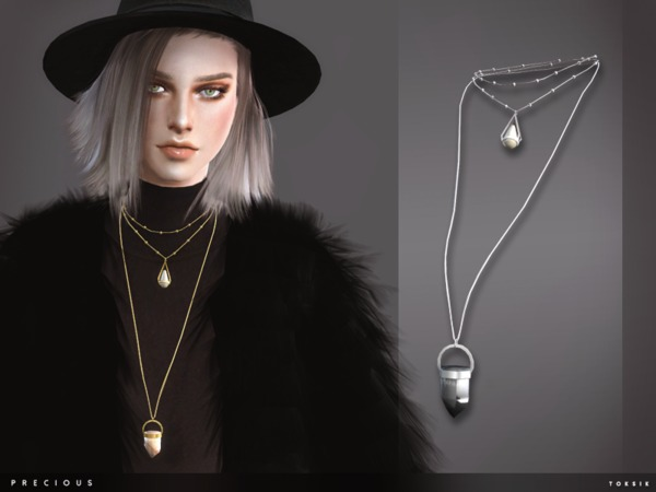 Precious Necklace by toksik at TSR image 3106 Sims 4 Updates