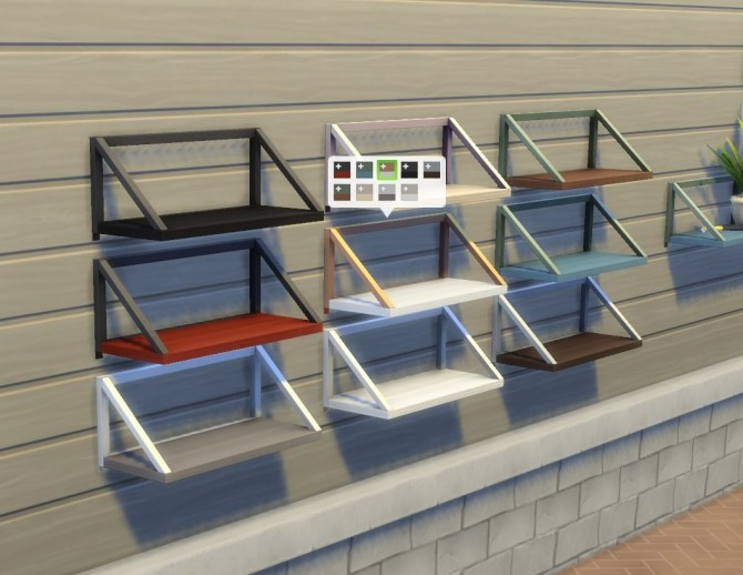 Sims 4 Balsa Shelf by plasticbox at Mod The Sims