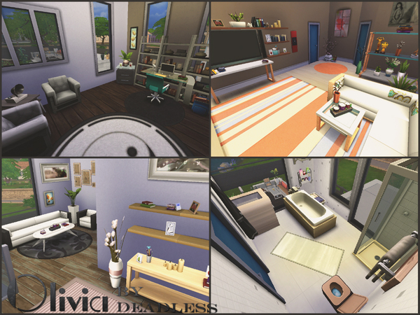 Sims 4 Olivia house by Deadless at TSR