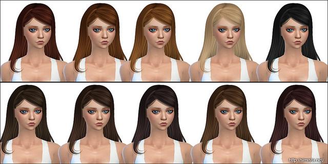 Sims 4 Emilia Hair Retexture at Simista