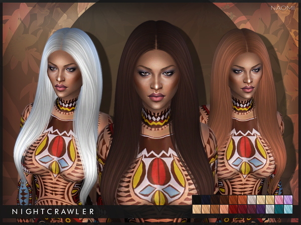 Sims 4 Naomi hair by Nightcrawler at TSR