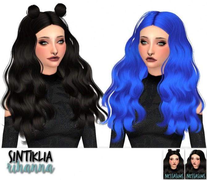 Sims 4 Sintiklias Lana, Lime and Rihanna hair recolors at Nessa Sims