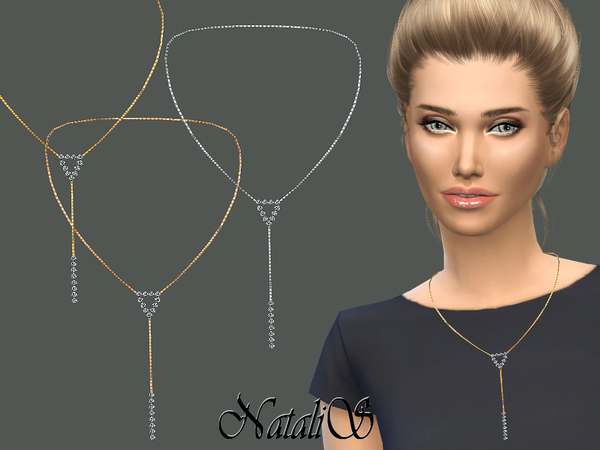 Sims 4 Sparkle Y Chain Necklace by NataliS at TSR