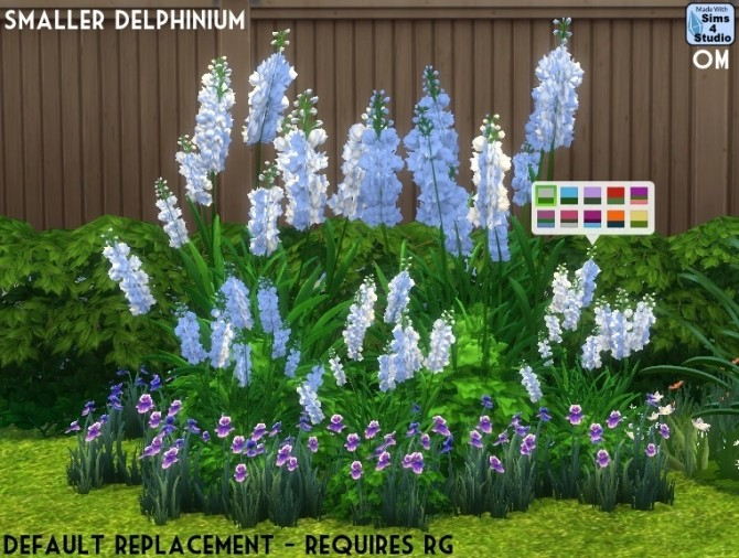 Sims 4 Delphinium plant foliage fix at Sims 4 Studio