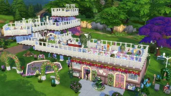 9 awesome romantic garden stuff lots by simgurudrake at for Awesome sims