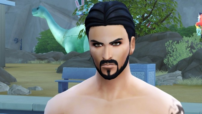 Sims 4 Jason Momoa as Khal Drogo by simgazer at Mod The Sims