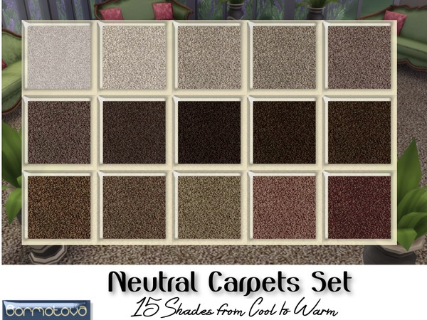 Neutral Carpets Set By Abormotova At Tsr 187 Sims 4 Updates