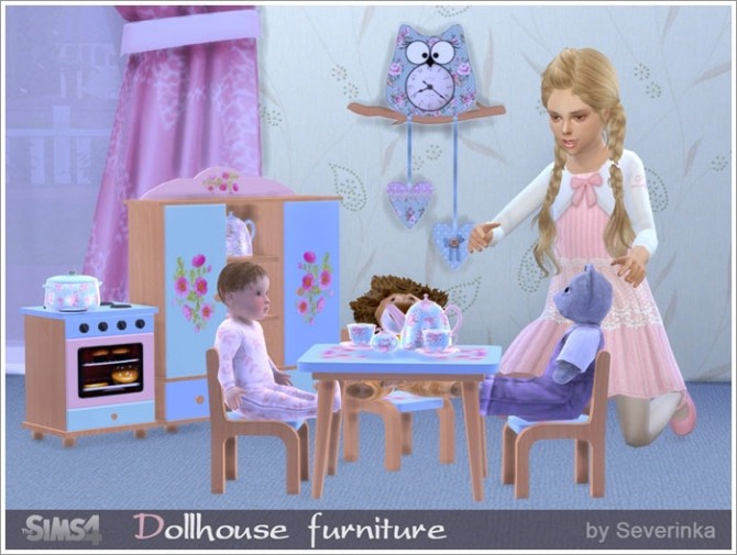 Dollhouse furniture set at Sims by Severinka image 3336 670x505 Sims 4 Updates