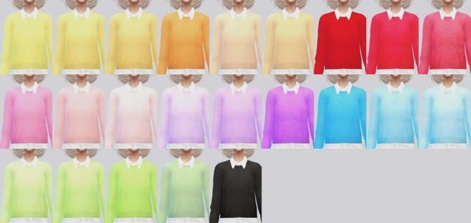 White + Black Collared Sweater at Kalewa a image 3373 670x318 Sims 4 Updates
