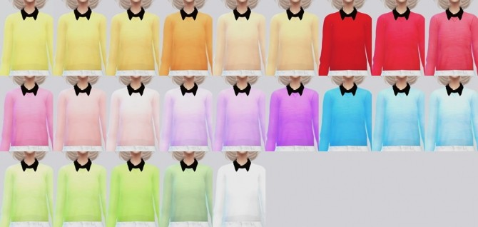 White + Black Collared Sweater at Kalewa a image 3393 670x318 Sims 4 Updates
