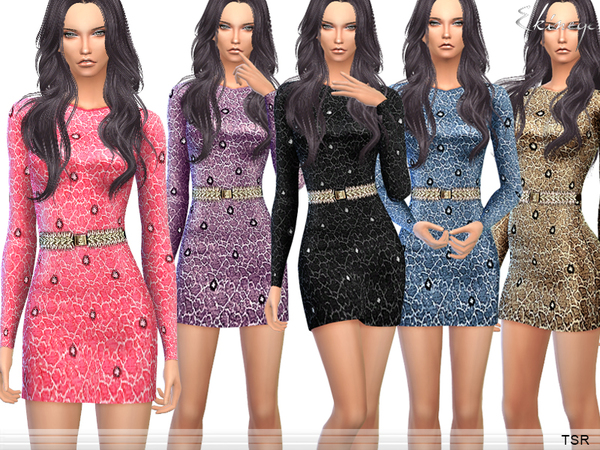 Cracked Dress by ekinege at TSR image 3412 Sims 4 Updates